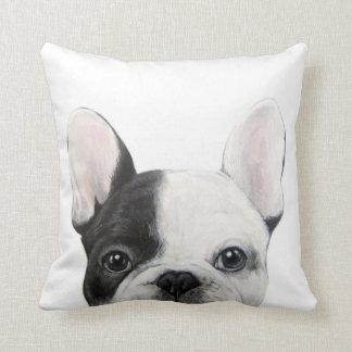 Französische Bulldogge, ursprüngliche Malerei vom Kissen