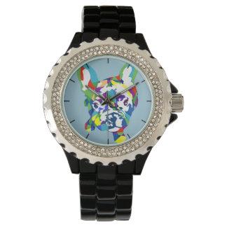 Französische Bulldogge Welpe Uhr
