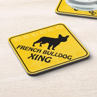 Französische Bulldogge Xing Getränkeuntersetzer