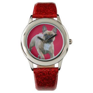 Französische Bulldoggen Armbanduhr