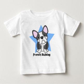 Französische Bulldoggen-Babys Kawaii Stern BWs Baby T-shirt