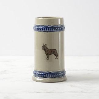 Französische Bulldoggen-Bier Stein Bierkrug