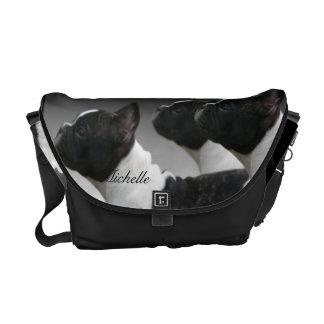 Französische Bulldoggen-Bote-Tasche Kurier Tasche