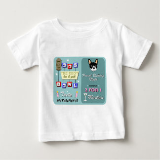 Französische Bulldoggen-Bowlings-Nacht Baby T-shirt