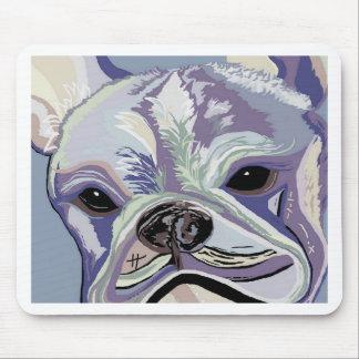 Französische Bulldoggen-Denim-Farben Mousepad