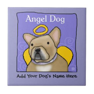 Französische Bulldoggen-Engel personifizieren Fliese