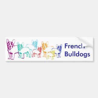 Französische Bulldoggen Geschenke Autoaufkleber