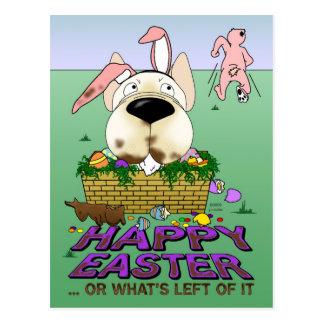 Französische Bulldoggen-glückliche Ostern-Postkart
