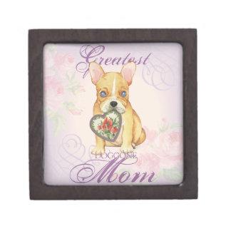 Französische Bulldoggen-Herz-Mamma Schachtel