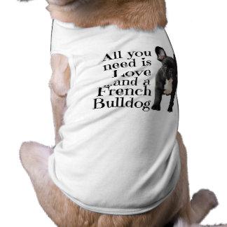 Französische Bulldoggen-Hundekleidung - Liebe Top