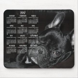 Französische Bulldoggen-Kalender-Mausunterlage Mauspads