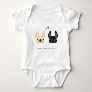 Französische Bulldoggen-Kleid Baby Strampler