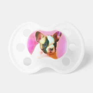 Französische Bulldoggen-Kunst Baby Schnuller