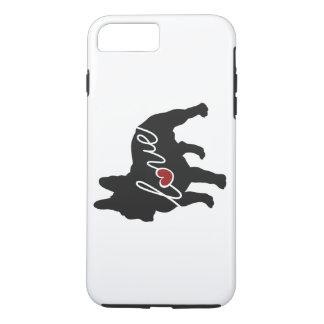 Französische Bulldoggen-Liebe iPhone 8 Plus/7 Plus Hülle