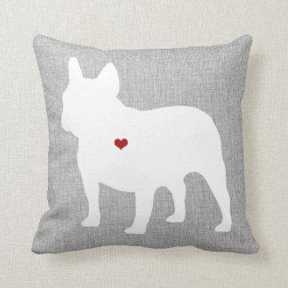 Französische Bulldoggen-Liebhaber-Herz-Haustier Kissen