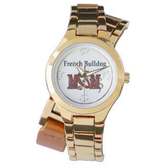 Französische Bulldoggen-Mamma-Geschenke Armbanduhr