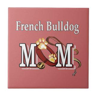Französische Bulldoggen-Mamma-Geschenke Keramikfliese