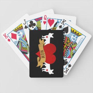Französische Bulldoggen-Mamma [Tätowierungsart] Bicycle Spielkarten