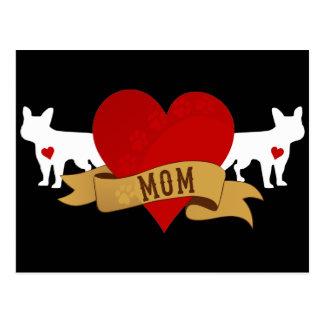 Französische Bulldoggen-Mamma [Tätowierungsart] Postkarte