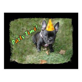 Französische Bulldoggen-Party Einladung Postkarte