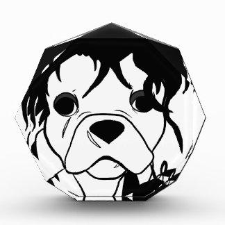 Französische Bulldoggen-Reihe - Ed Scissorpaw Acryl Auszeichnung