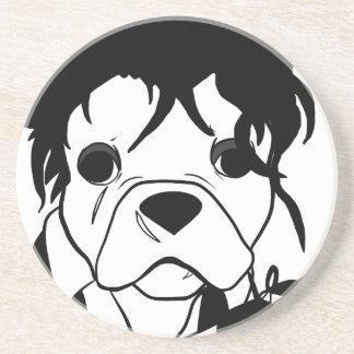 Französische Bulldoggen-Reihe - Ed Scissorpaw Getränkeuntersetzer