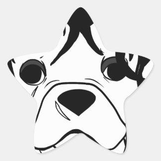 Französische Bulldoggen-Reihe - Ed Scissorpaw Stern-Aufkleber