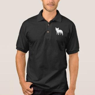 Französische Bulldoggen-Silhouette Polo Shirt