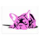 Französische Bulldoggen-Silhouette Postkarte