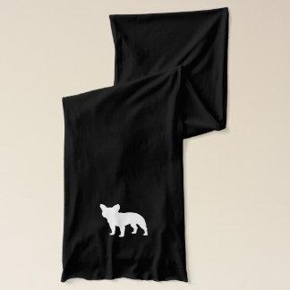 Französische Bulldoggen-Silhouette Schal