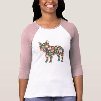 Französische Bulldoggen-Silhouette-T - Shirt
