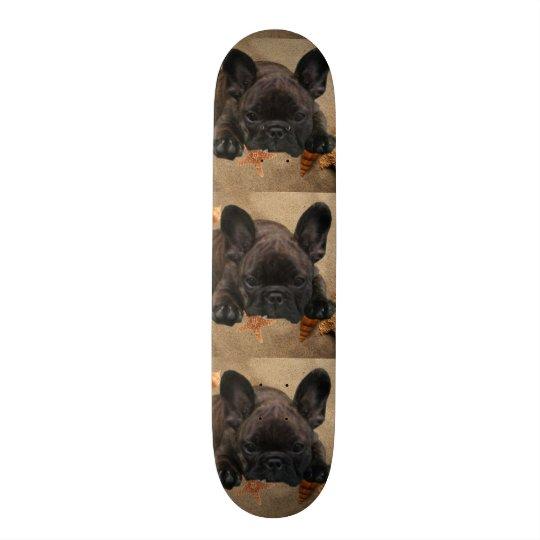 Französische Bulldoggen Skateboard Personalisierte Skatedecks