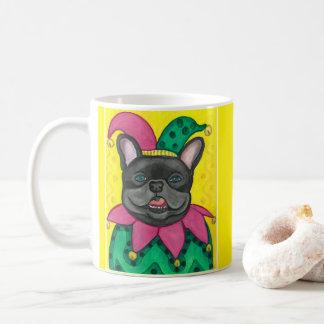 Französische Bulldoggen-Spaßvogel-Tasse Kaffeetasse