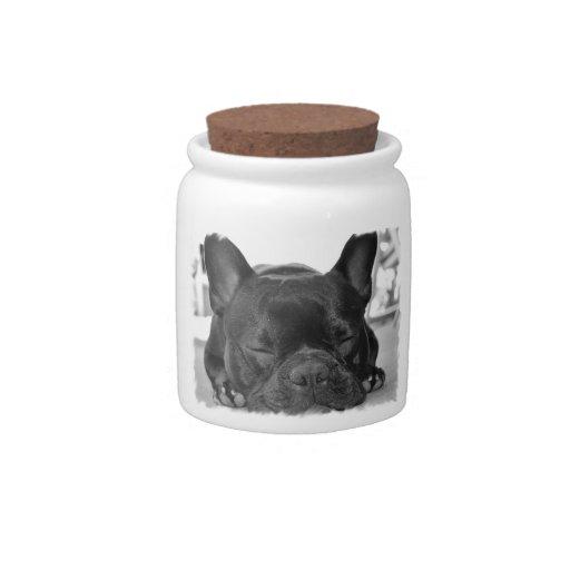 Französische Bulldoggen-Süßigkeits-Glas Keksdosen