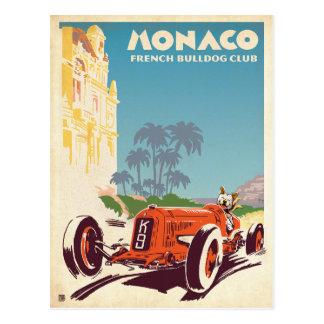 Französische Bulldoggen-Verein Monacos Postkarte
