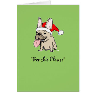 Französische Bulldoggen-Weihnachten Grußkarten