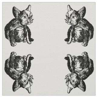 Französische Bulldoggen-Welpen-kundenspezifischer Stoff
