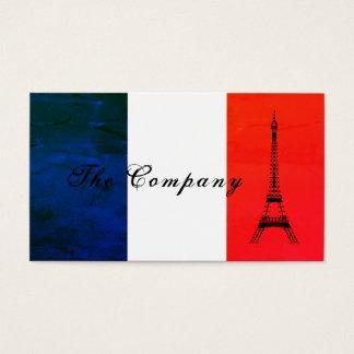 Französische Eiffelturm-Flagge, Frankreich Visitenkarte