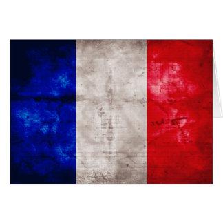 Französische Flagge Mitteilungskarte