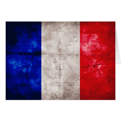 Französische Flagge Grußkarte