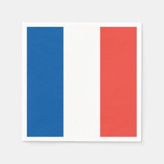 Französische Flagge: Tricolor Papierserviette