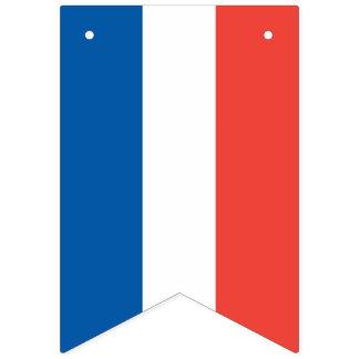 Französische Flagge: Tricolor Wimpelketten