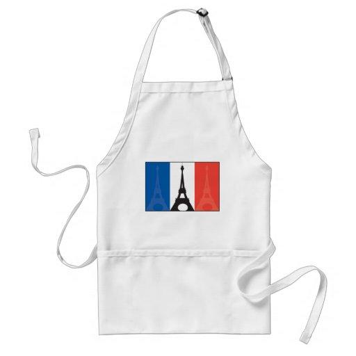 Französische Flagge und Eiffelturm Schürze
