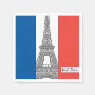 Französische Flagge, Vive La Frankreich, Papierserviette