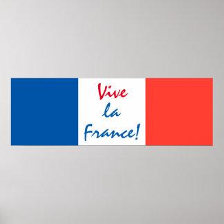 Französische Flagge Vive La-Frankreichs Poster