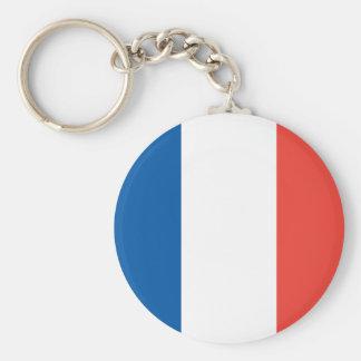 Französische Flaggen-Schlüsselkette Standard Runder Schlüsselanhänger