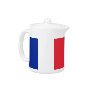 Französische Flaggen-Teekanne