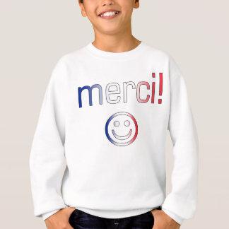 Französische Geschenke: Danke/Merci + Smiley Sweatshirt