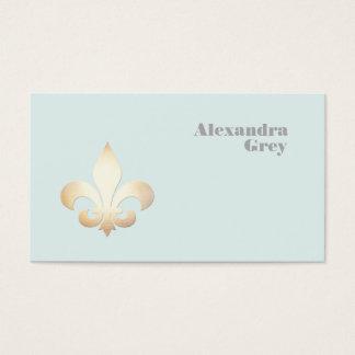 Französische Goldblatt-Lilie hellblau Visitenkarte