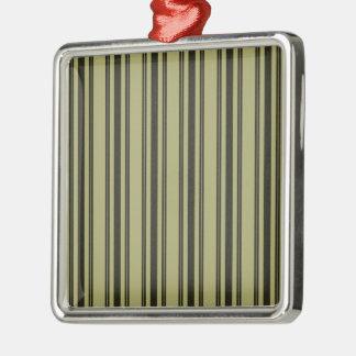 Französische kakifarbige Matratzen-tickender Silbernes Ornament